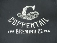 COPPERTAIL BREWING CO TAMPA FLORIDA MERMAID TAIL - BLACK LARGE T-SHIRT B1000