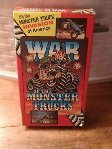 Vintage Original WAR OF THE MONSTER TRUCKS VHS 1986