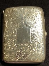 ANTIQUE VICTORIAN STERLING SILVER CARD / CIGARETTE CASE ,-59.56g #GT
