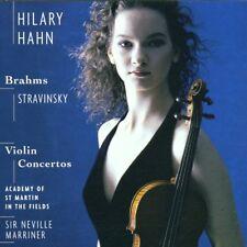 Stravinsky/Brahms: Violin Concertos Hilary Hahn Neville Marriner/Sony CD 2001