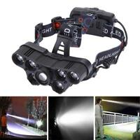 USB Rechargeable Waterproof 7 LED Headlamp Camping Fishing Headlight Torch Lamp