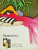 PUBLICITÉ DE PRESSE 1979 DIORESSENCE LE PARFUM BARBARE DE CHRISTIAN DIOR - GRUAU