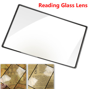 Full Page Book Reading Aid Lens 3x Magnifying Glass Big Large Magnifier Sheet US