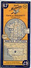Carte Michelin 67 1950 Nantes-Poitiers