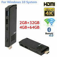 For Intel Z8350 Quad-Core 4K 4GB+64GB Mini PC Computer Stick WiFi Dongle JS