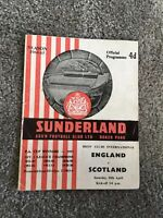 ENGLAND V SCOTLAND BOYS CLUB INTERNATIONAL ROKER PARK SUNDERLAND 1964/65