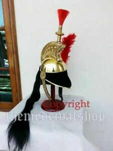 French Cuirassier Officer's Napoleon Brass Helmet WITH STAND SCA HANDMADE SPARTA