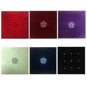 60×60cm Pentacle Tarot Tablecloth Velvet Altar Tarot Cloth Board Game Card Pad