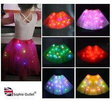 Kids LIGHT UP LED TUTU Girls Stage Dance Skirt Dance Wear School Play Halloween