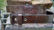 Genuine American Alligator Brown belt 1-1/2 x 44 gator swamp leather ZZ Womans