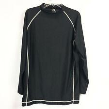 Footjoy Mens Sz Xl Black Base Layer Pullover Shirt Long Sleeve Athletic Golf Top