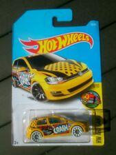 Hot wheels volkswagen golf mk7 art cars new sealed long card 2017 yellow