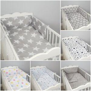 5 3 2 pc LUXURY COT/COT BED BABY BEDDING SET bumper quilt pillow duvet nursery