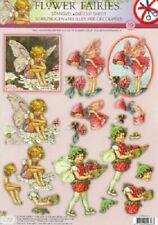 Flower Fairies Die Cut Decoupage Sheet Card Making Paper Craft  No 19 NO CUTTING
