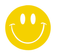 Vintage Style Smiley Face - Happy Smile / Vinyl Decal #510-A - Made to Order