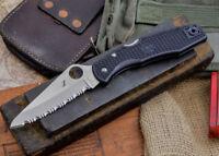 """Spyderco Pacific Salt Knife 3.8"""" Serrated Sheepsfoot H1 Steel Blade FRN Handle"""