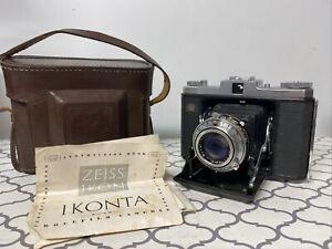 Vtg Zeiss Ikon Ikonta Camera 1:35 f=75mm Novar Anastigmat Prontor-SV UNTESTED