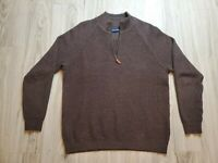Tommy Bahama Men's Long Sleeve Sweater Size Medium 1/4 Zip Up VERY NICE