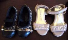 Lot of 2 pair, Girls Size 5 Nine West Sandal, and Mary Jane - unknown brand