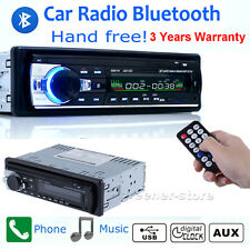 Car Bluetooth Stereo Radio 1 Din Head Unit FM MP3 Audio USB/SD/APE Aux Input 12V