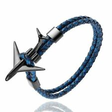 Anchor Bracelet Pilot Airplane Leather Rope Stainless Steel Aviation Bracelets