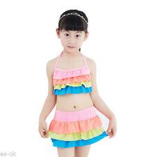 Maillots de bain bikini vert pour fille de 2 à 16 ans