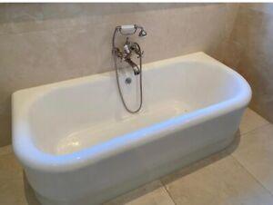 VOLEVATCH ART DECO STYLE CAST IRON FLAT BACK BATH