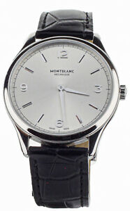 MONTBLANC HERITAGE ULTRA SLIM CHRONOMETRIE STAINLESS STEEL SILVER DIAL 41MM 7342