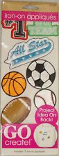 Horizon Go Create Iron-On Sports Appliques New In Package