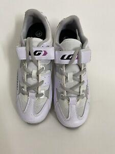 LG Louis Garneau Women's Air Clip In Cycling Shoes Sz 41 US 9 White NWOB