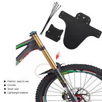 1Pair Bicycle Lightest MTB Mud Guards Tire Tyre Mudguard For Bike Fenders Black