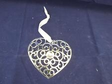 Wedgwood Christmas Silver Plate Filligree Heart ornament.
