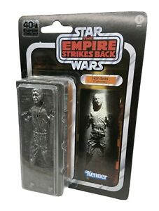 "STAR WARS BLACK SERIES ESB 40TH ANNIVERSARY HAN SOLO IN CARBONITE 6"" figure"