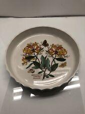 """Portmeirion The Botanic Garden Honeysuckle Quiche Tart Pie Dish 9.5"""" England"""