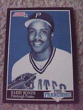 Barry Bonds FRAN 1991 Score RARE BLANK BACK PROOF CARD hand-cut from sheet