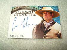 Stargate Atlantis Autograph Card Ari Cohen as Tyrus