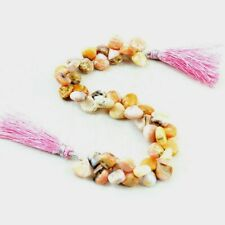 131.00 Cts / 7 Inches Earth Mined Pink Australian Opal Drilled Beads Strand