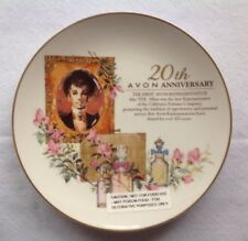 Avon 20th Anniversary First Representative Porcelain Plate 22k Gold Trim Nib