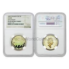 Canada 2002 Horse Hologram $150 Gold NGC PF69 Ultra Cameo