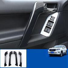 For Toyota prado FJ150 2010-2019 ABS carbon fiber Interior door armrest trim