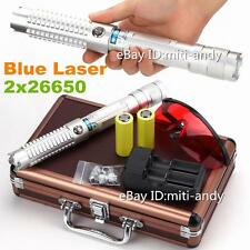 Most Powerful Burning Blue Laser Pointer Laser Torch Focusable Burn Match 26650