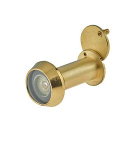 Door Viewer Peephole Spy Hole Polished Brass 200 Degree Fire Rated High Quality