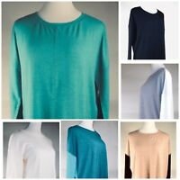SERENA WILLIAMS Women's Pullover Tunic Top Long Slv SZ L Color Variety NWT