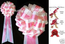 "IVORY PINK WEDDING 9"" PULL BOWS PEW BRIDAL CAKE GIFT"