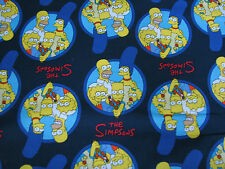 1 Yard Quilt Cotton Fabric- Camelot The Simpsons Family Portrait Blue