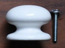 Qualité Blanc 38mm Porcelaine Céramique Poignée Commode + Verrou