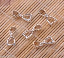 40Pcs 12mm Silver-plated Pinch Bails Charm Pendants Connectors Jewelry Findings