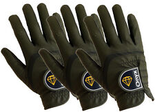 Onyx Mens Premium RH Golf Gloves 3 Pack All Weather Size Right Hand Medium Black