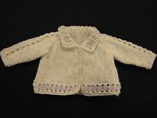 Premature Small Baby Collared Jacket Cardigan DK Knitting Pattern