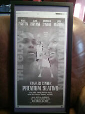 Framed LA Lakers Kobe Bryant Shaqille Oneal Malone Payton Printing Plate